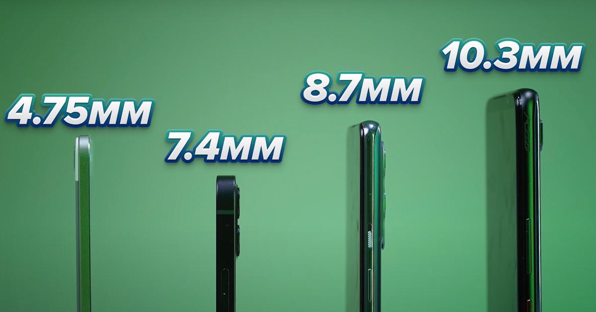 nejtenčí smartphonů